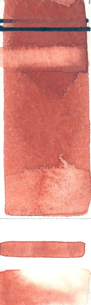 Rublev Colours French Red Ochre (Half Pan) - Color: Red