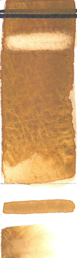 Rublev Colours Italian Brown Ocher (Half Pan) - Color: Yellow