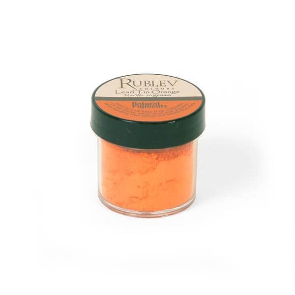 Natural Pigments Lead-Tin Orange 50 g - Color: Orange
