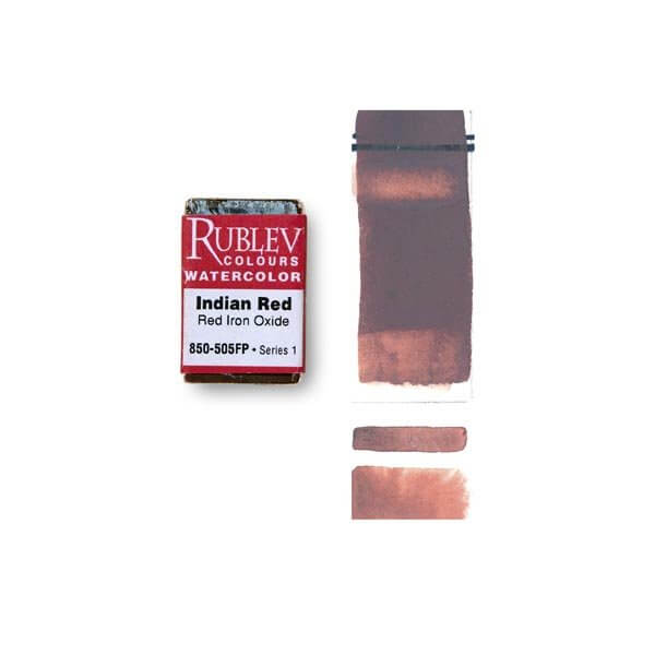 Natural Pigments Rublev Colours Indian Red (Full Pan) - Color: Red