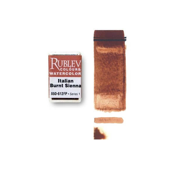 Rublev Colours Italian Burnt Sienna (Full Pan) - Color: Brown