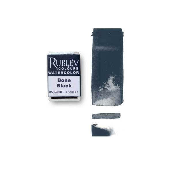 Rublev Colours Bone Black (Full Pan) - Color: Black