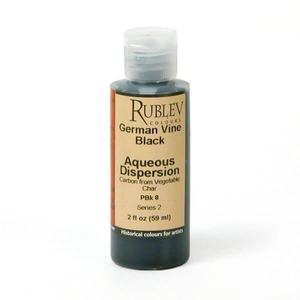 Natural Pigments Rublev Colours German Vine Black 2 fl oz - Color: Black