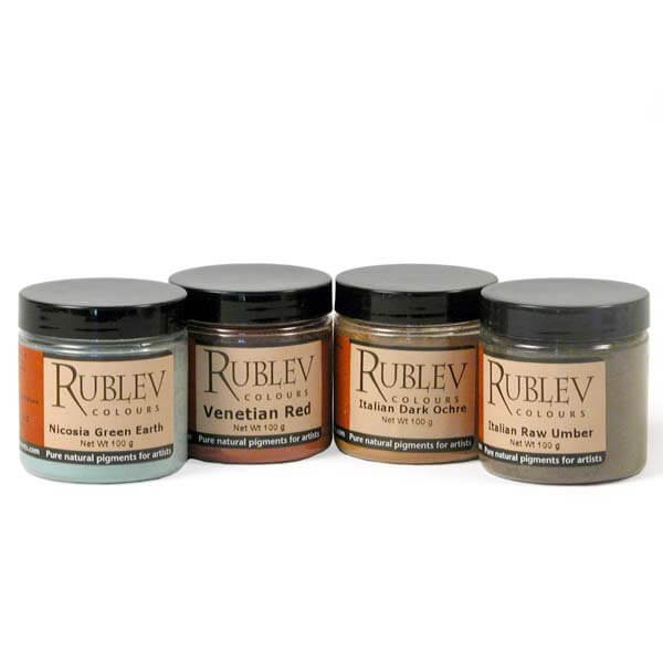 Rublev Colours Cool Earth Tones™ Pigment Set