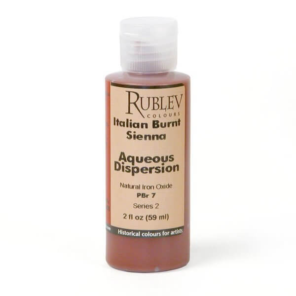 Natural Pigments Rublev Colours Italian Burnt Sienna 2 fl oz - Color: Brown