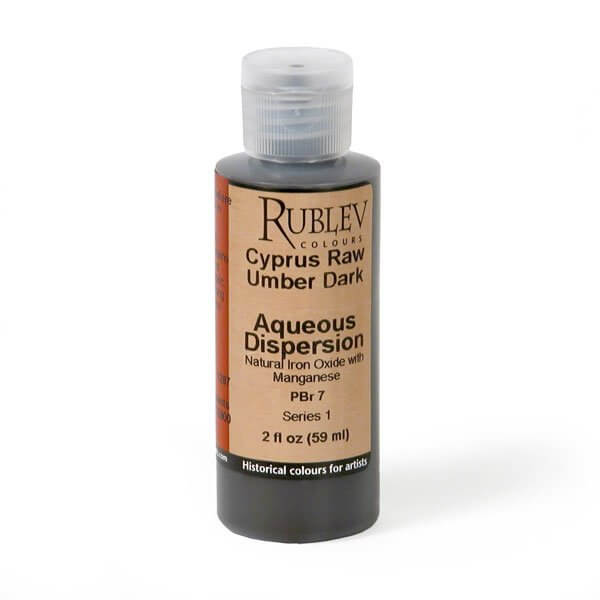 Natural Pigments Rublev Colours Cyprus Raw Umber Dark 2 fl oz - Color: Brown