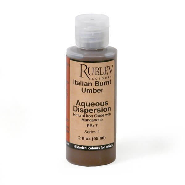 Natural Pigments Rublev Colours Italian Burnt Umber 2 fl oz - Color: Brown