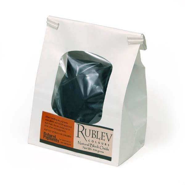 Rublev Colours Rublev Colours Natural Black Oxide 1 kg - Color: Black
