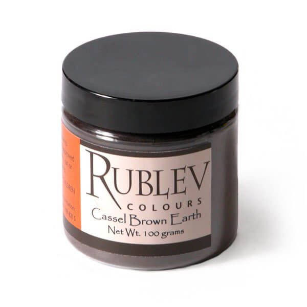 Natural Pigments Rublev Colours Cassel Earth 100 g - Color: Brown Black