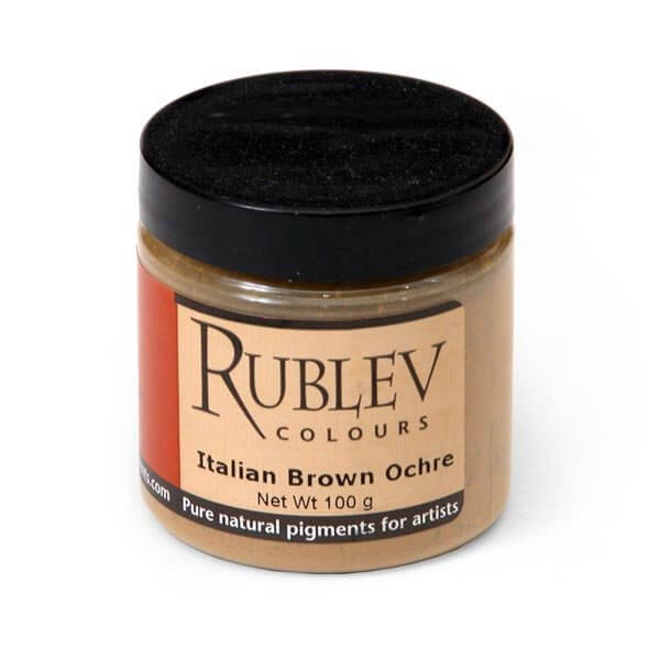 Rublev Colours Italian Natural Pigments Italian Brown Ocher 100 g - Color: Brown