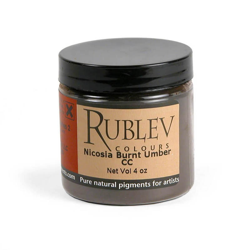 Rublev Colours Nicosia Burnt Umber CC (4 oz vol) - Color: Brown