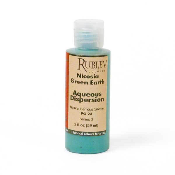 Natural Pigments Rublev Colours Nicosia Green Earth 2 fl oz - Color: Green