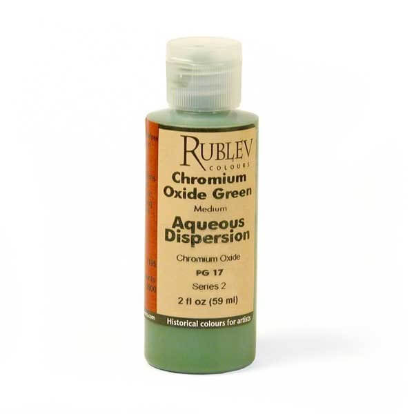 Natural Pigments Rublev Colours Chromium Oxide Green 2 fl oz - Color: Green
