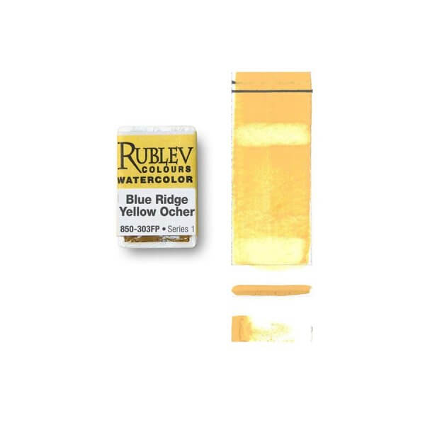 Rublev Colours Rublev Colours Blue Ridge Yellow Ocher (Full Pan) - Color: Yellow