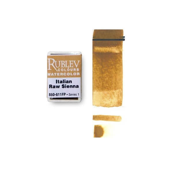 Rublev Colours Rublev Colours Italian Raw Sienna (Full Pan) - Color: Brown