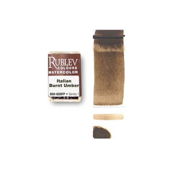 Rublev Colours Rublev Colours Italian Burnt Umber (Full Pan) - Color: Brown