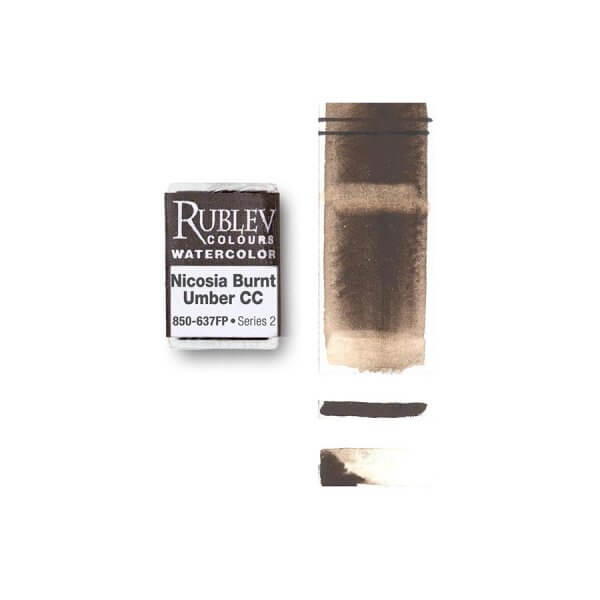 Rublev Colours Nicosia Burnt Umber CC (Full Pan) - Color: Brown