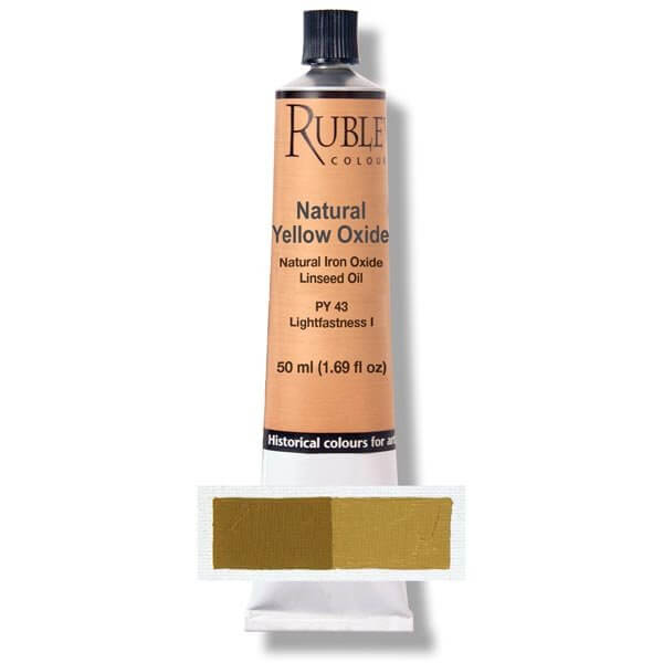 Natural Pigments Rublev Colours Natural Yellow Oxide 50 ml