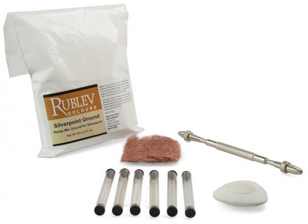 Aurum Natural Pigments Silverpoint Drawing Kit