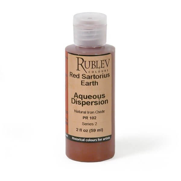 Natural Pigments Rublev Colours Red Sartorius Earth 2 fl oz - Color: Red