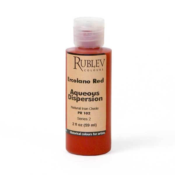 Natural Pigments Rublev Colours Ercolano Red 2 fl oz - Color: Red