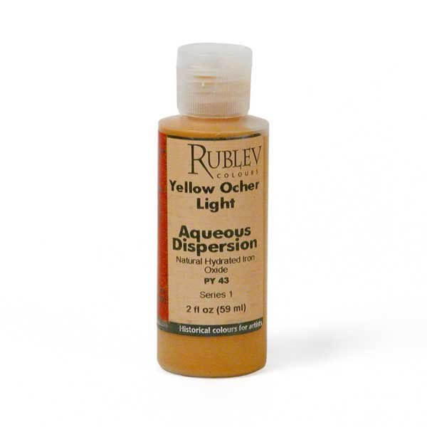 Natural Pigments Rublev Colours Yellow Ocher Light 2 fl oz - Color: Yellow