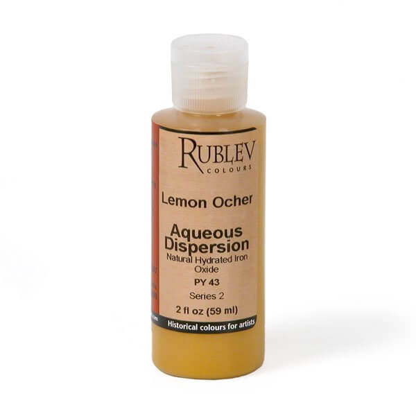 Natural Pigments Rublev Colours Lemon Ocher 2 fl oz - Color: Yellow