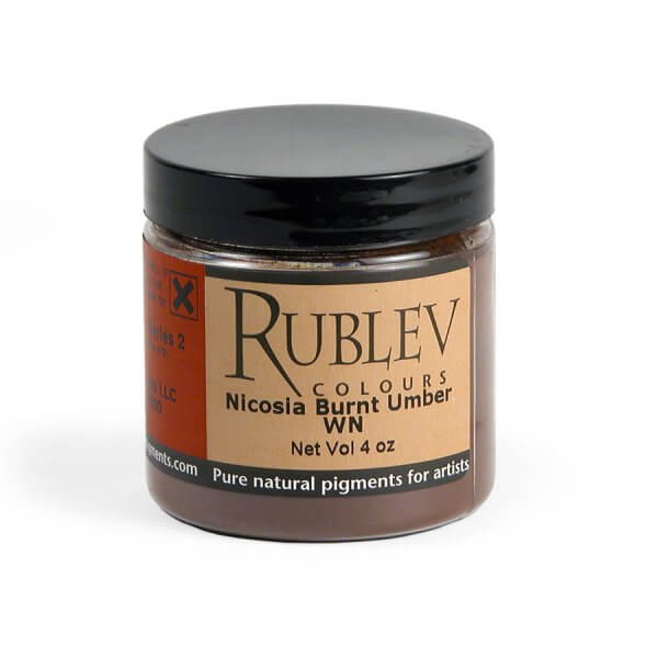 Rublev Colours Nicosia Burnt Umber WN (4 oz vol) - Color: Brown