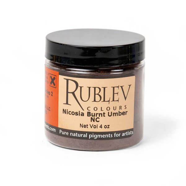 Rublev Colours Nicosia Burnt Umber NC (4 oz vol) - Color: Brown