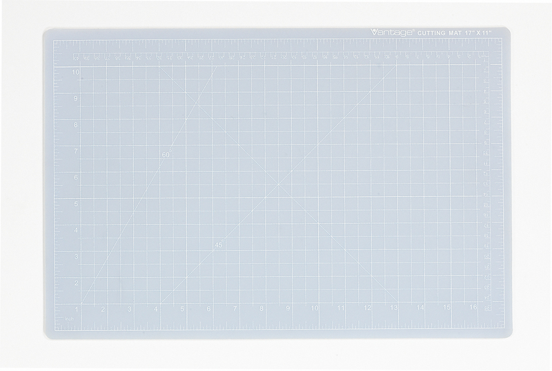 "Dahle Vantage® Self-Healing Cutting Mat 12"" x 18"" Crystal Clear"