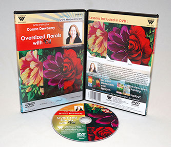 Donna Dewberry DVD-Oversized Floral Painting With Woil