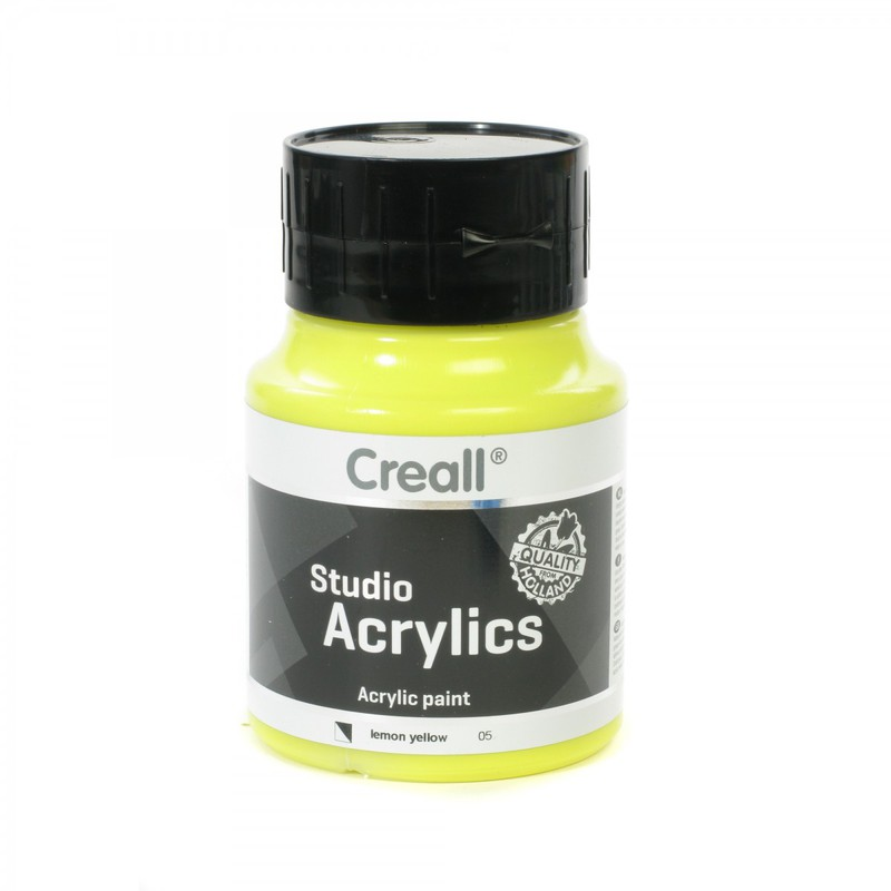 American Educational Creall® Studio Acrylics 500ml - Lemon Yellow