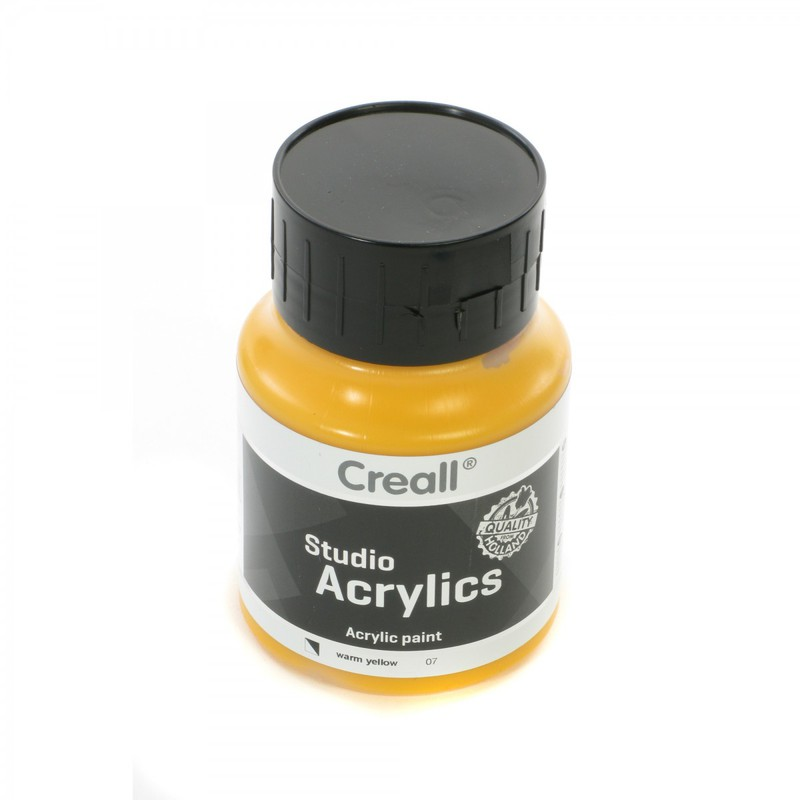 American Educational Creall® Studio Acrylics 500ml - Warm Yellow