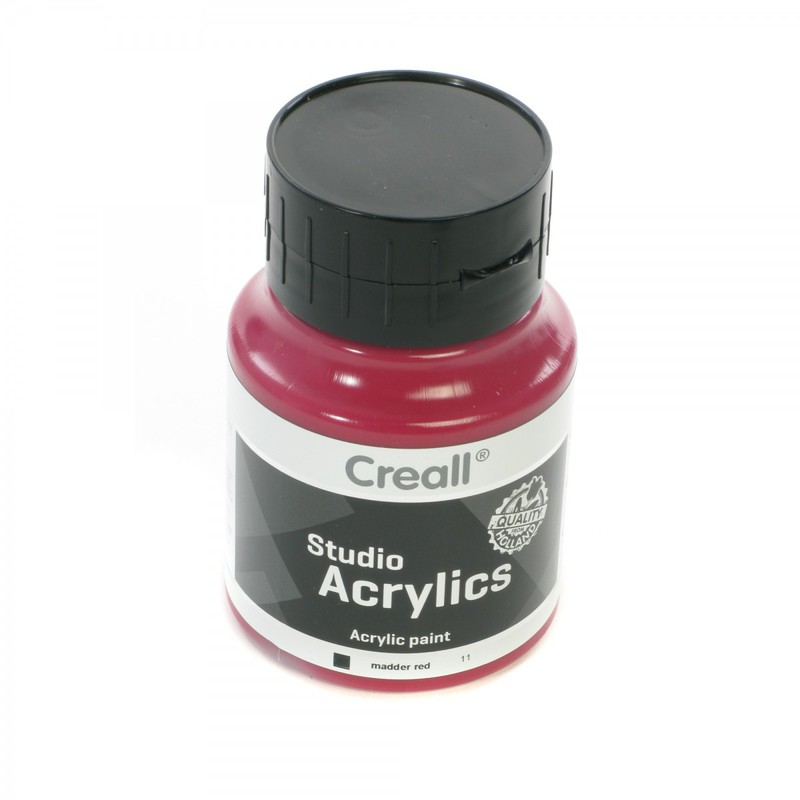 American Educational Creall® Studio Acrylics 500ml - Madder Red