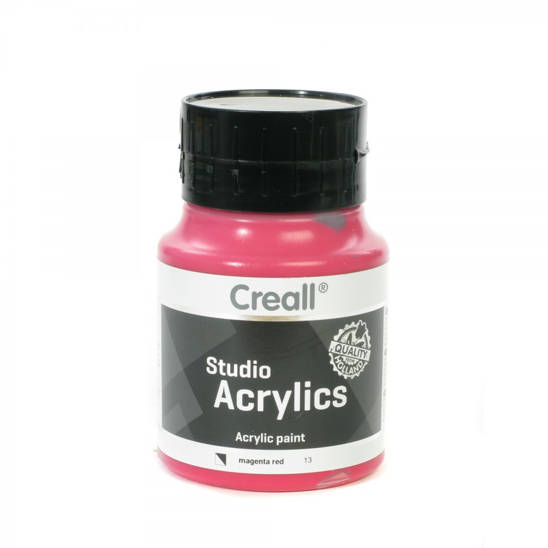 American Educational Creall® Studio Acrylics 500ml - Magenta Red