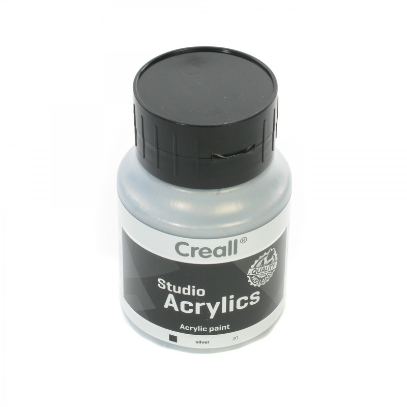 American Educational Creall® Studio Acrylics 500ml - Silver