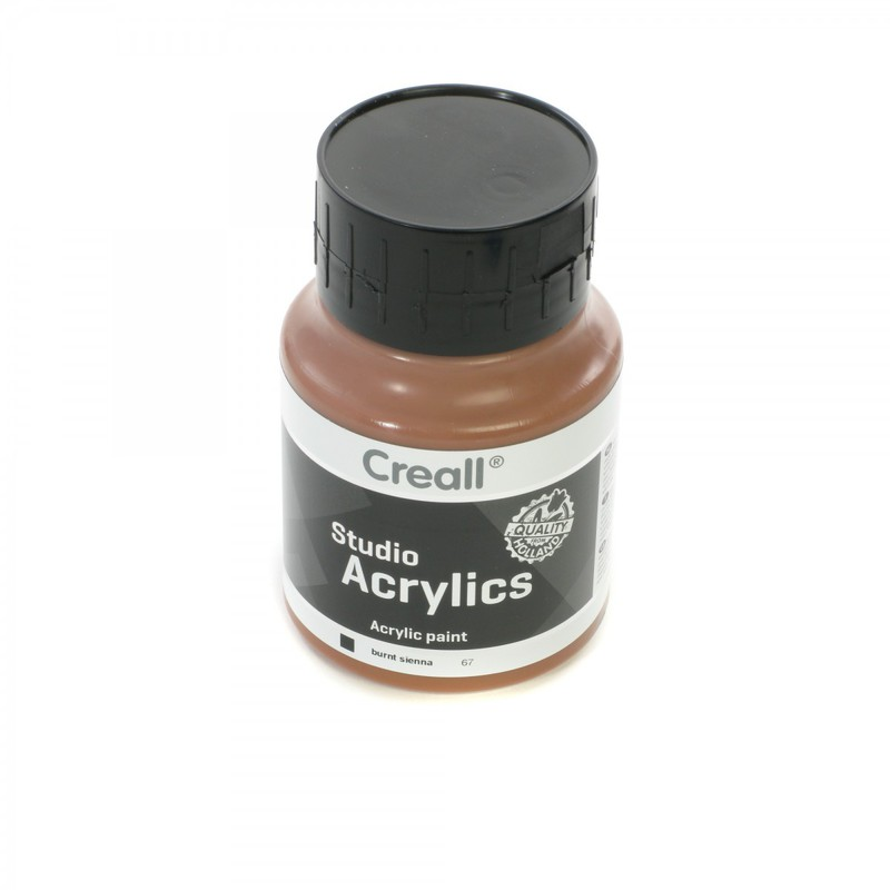 American Educational Creall Studio Acrylics - Burnt Sienna - 500ml