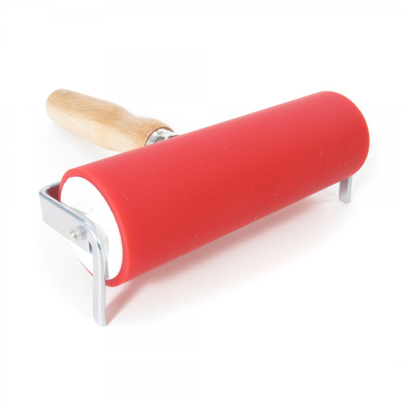 "American Educational ABIG Ink Roller Aluminum Core and Beechwood Handle: 6"" Wide"