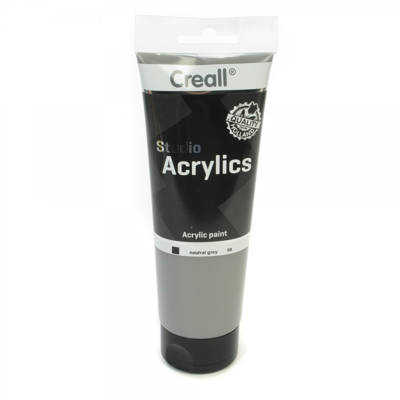 American Educational Creall® Studio Acrylics 250ml - Neutral Gray