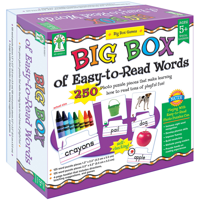 Carson Dellosa Education Big Box Of Easy To Read Words Game Age 5+ Special Education