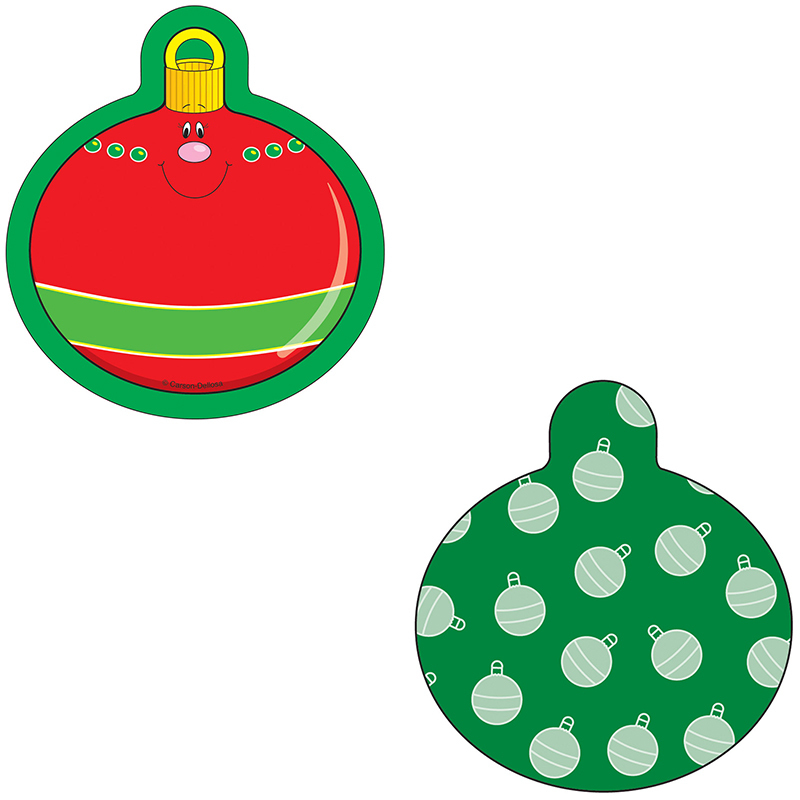 (6 Pk) Mini Cut-Outs Single Christmas Ornaments