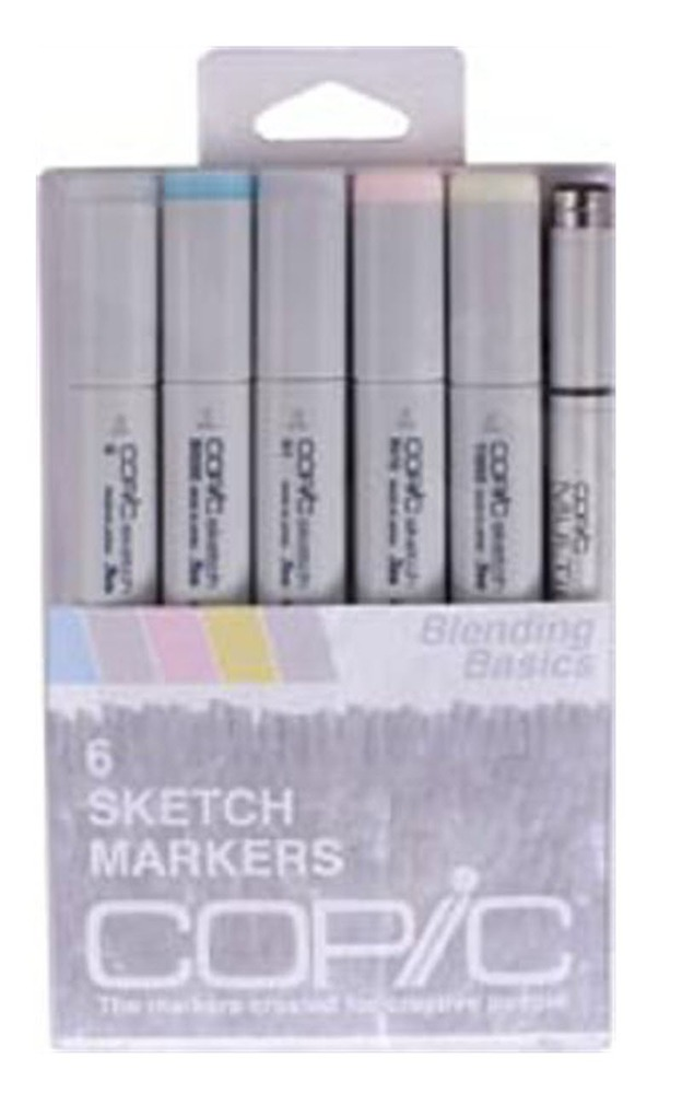Copic Sketch Marker: Floral 1, 6-Color Set