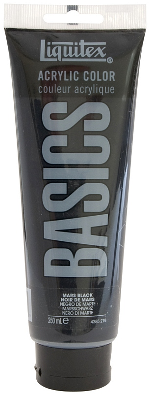 Liquitex Basics Value Acrylic Paint: Mars Black, 8.5 oz. (250 ml) Tube