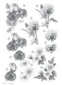 Ecstasy Crafts Craft Uk Floral -Rose/daisy/pansy - Silver