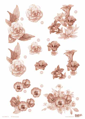 Ecstasy Crafts Copper Flowers -Assorted Flowers