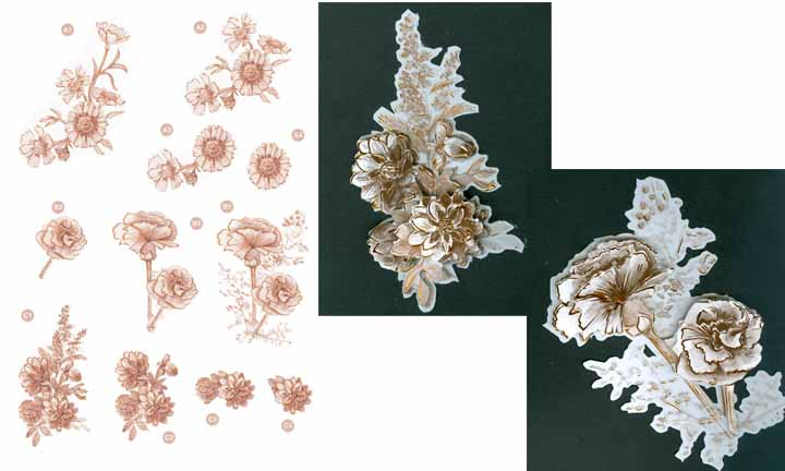 Ecstasy Crafts Copper Flowers -Carnations