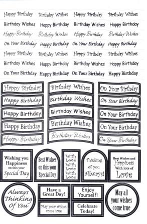 Craft UK Caption - birthday silver foil