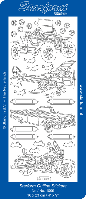 Deco Stickers - Cars, plane & Motorcycle
