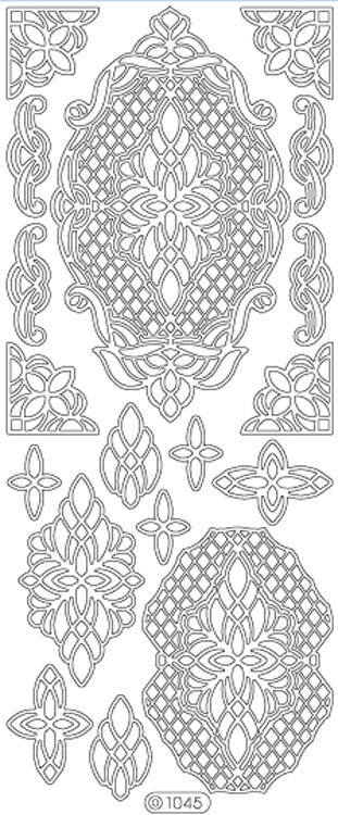 Deco Stickers - Ornate Lattice Designs