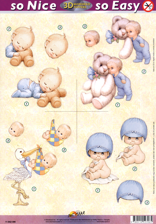 Morehead So Nice and Easy (4) - Baby Boy, stork, cookies, teddies